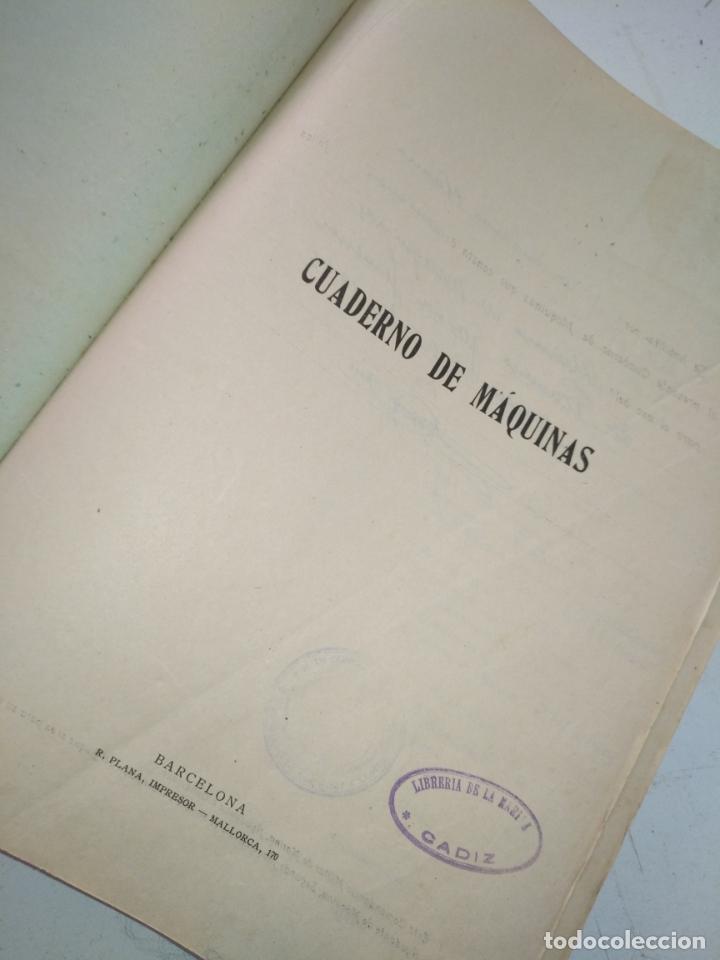 Libros de segunda mano: Cuaderno de maquinas cabo de hornos barco turbina del año 1902 . Escrito 1946 - Foto 2 - 178222837