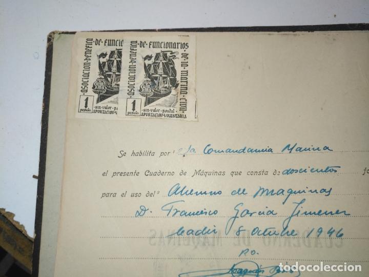 Libros de segunda mano: Cuaderno de maquinas cabo de hornos barco turbina del año 1902 . Escrito 1946 - Foto 3 - 178222837
