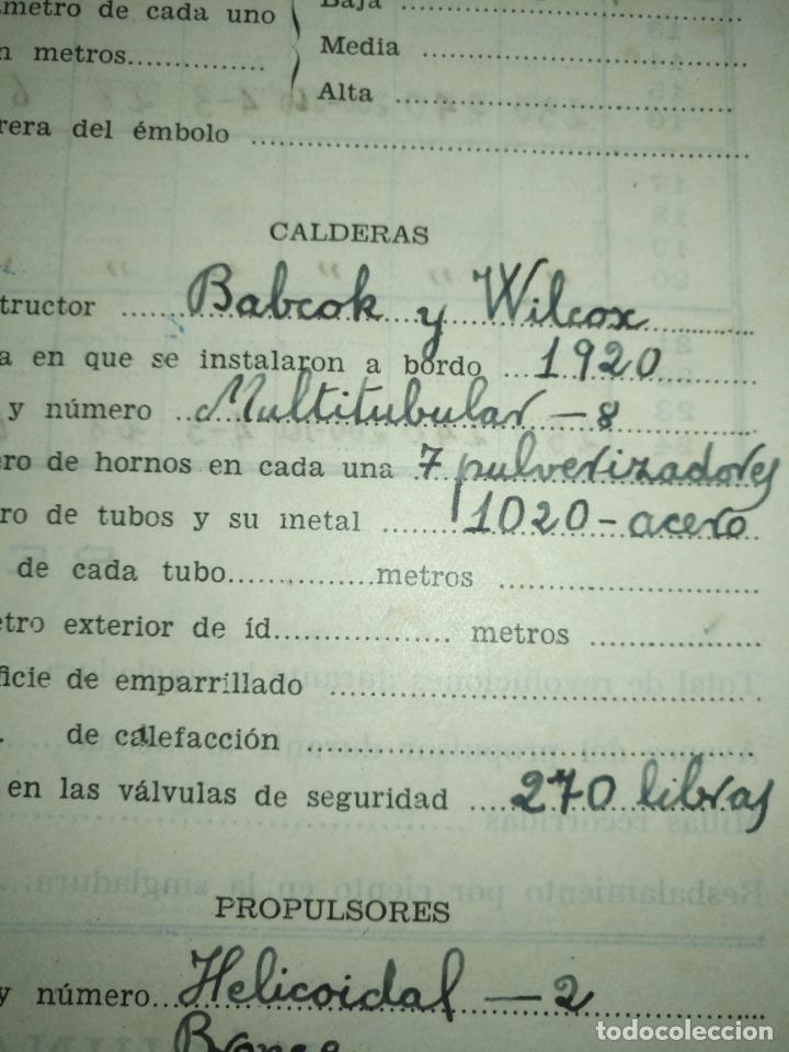 Libros de segunda mano: Cuaderno de maquinas cabo de hornos barco turbina del año 1902 . Escrito 1946 - Foto 5 - 178222837