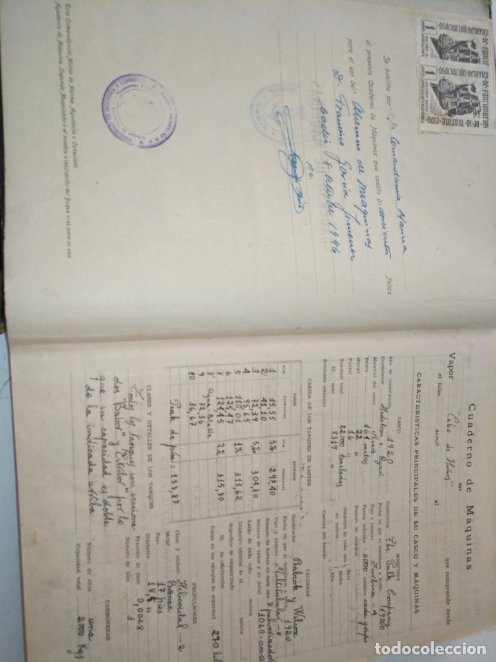 Libros de segunda mano: Cuaderno de maquinas cabo de hornos barco turbina del año 1902 . Escrito 1946 - Foto 6 - 178222837