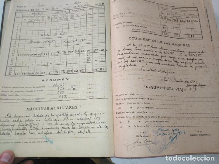 Libros de segunda mano: Cuaderno de maquinas cabo de hornos barco turbina del año 1902 . Escrito 1946 - Foto 7 - 178222837