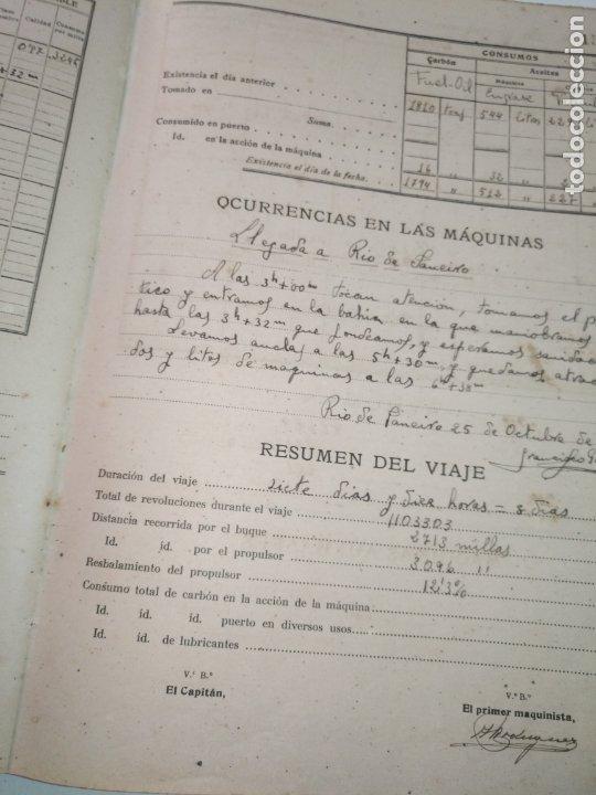 Libros de segunda mano: Cuaderno de maquinas cabo de hornos barco turbina del año 1902 . Escrito 1946 - Foto 9 - 178222837