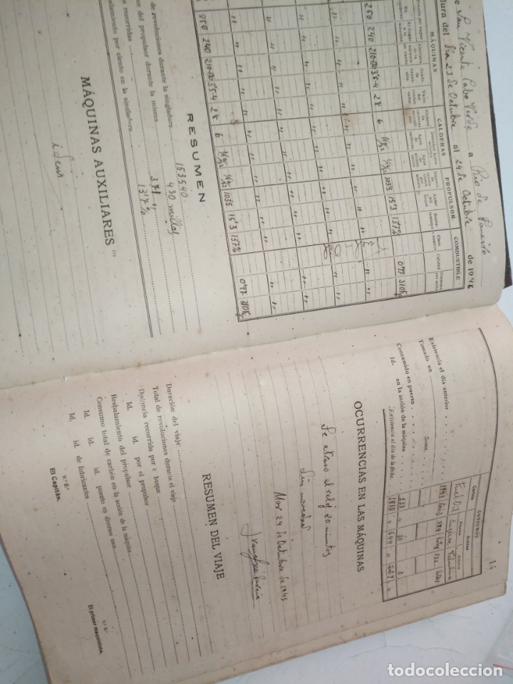 Libros de segunda mano: Cuaderno de maquinas cabo de hornos barco turbina del año 1902 . Escrito 1946 - Foto 10 - 178222837
