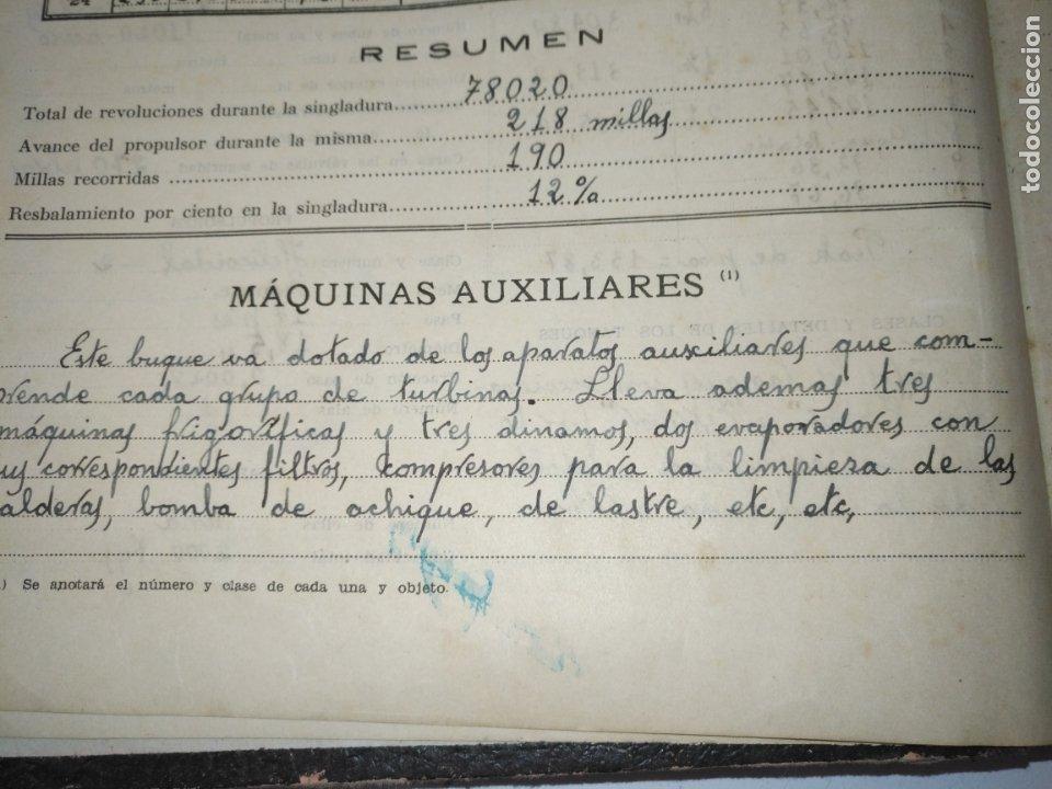 Libros de segunda mano: Cuaderno de maquinas cabo de hornos barco turbina del año 1902 . Escrito 1946 - Foto 11 - 178222837