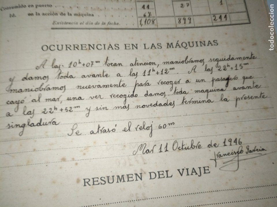 Libros de segunda mano: Cuaderno de maquinas cabo de hornos barco turbina del año 1902 . Escrito 1946 - Foto 12 - 178222837