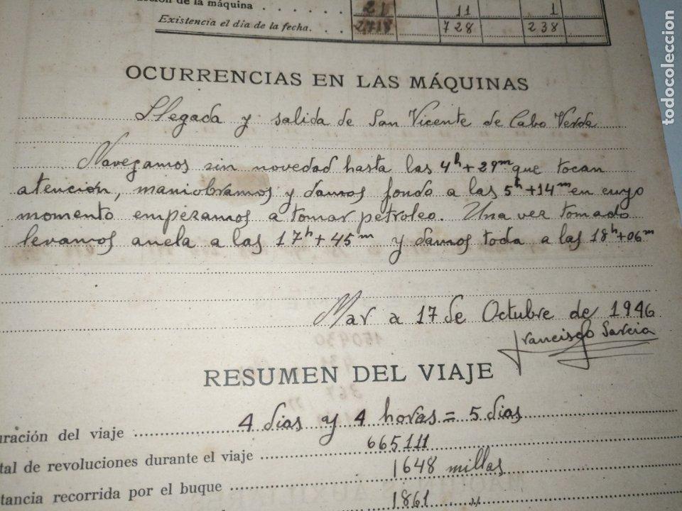 Libros de segunda mano: Cuaderno de maquinas cabo de hornos barco turbina del año 1902 . Escrito 1946 - Foto 13 - 178222837
