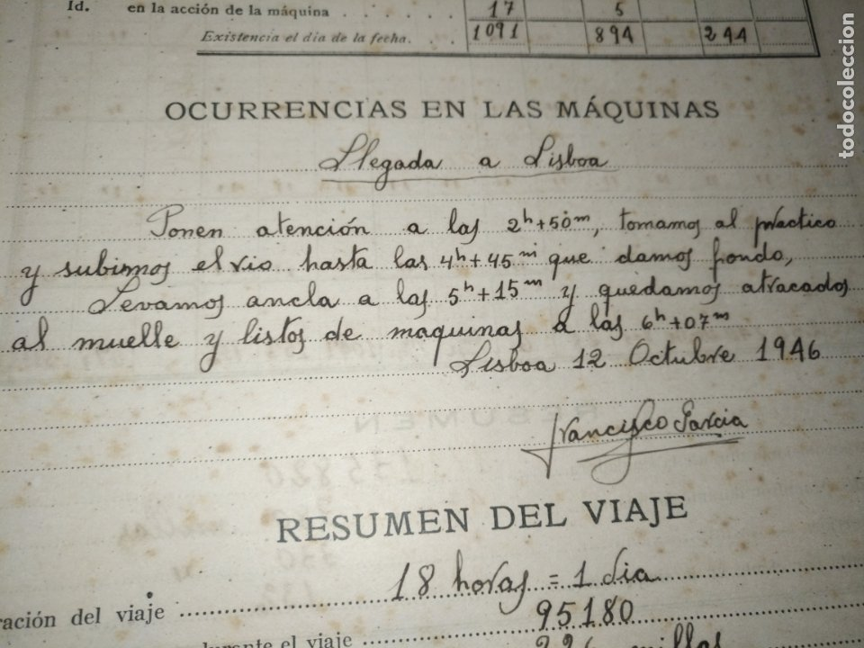 Libros de segunda mano: Cuaderno de maquinas cabo de hornos barco turbina del año 1902 . Escrito 1946 - Foto 14 - 178222837