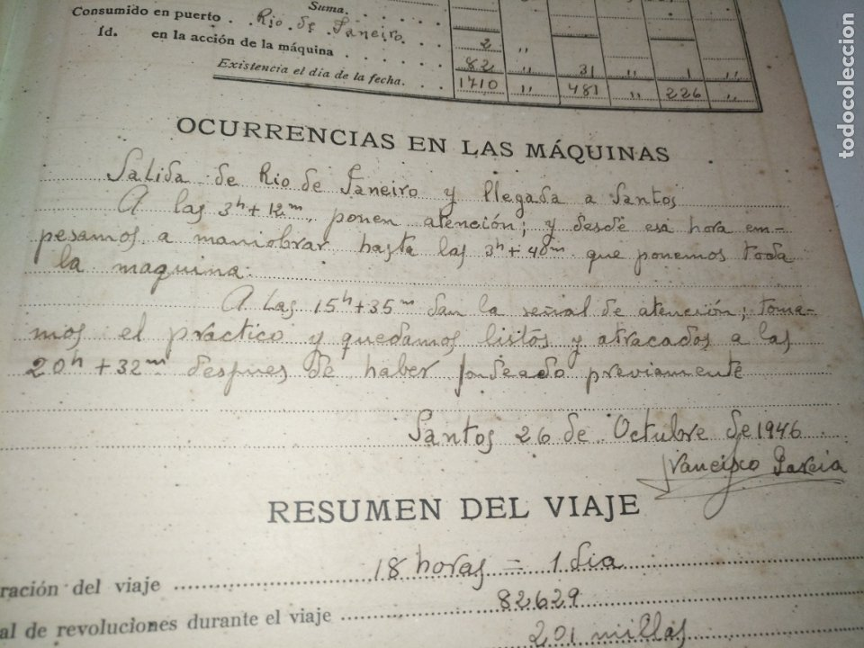 Libros de segunda mano: Cuaderno de maquinas cabo de hornos barco turbina del año 1902 . Escrito 1946 - Foto 18 - 178222837