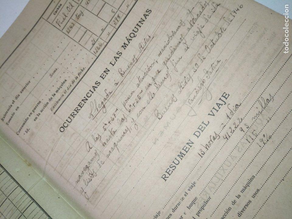 Libros de segunda mano: Cuaderno de maquinas cabo de hornos barco turbina del año 1902 . Escrito 1946 - Foto 20 - 178222837