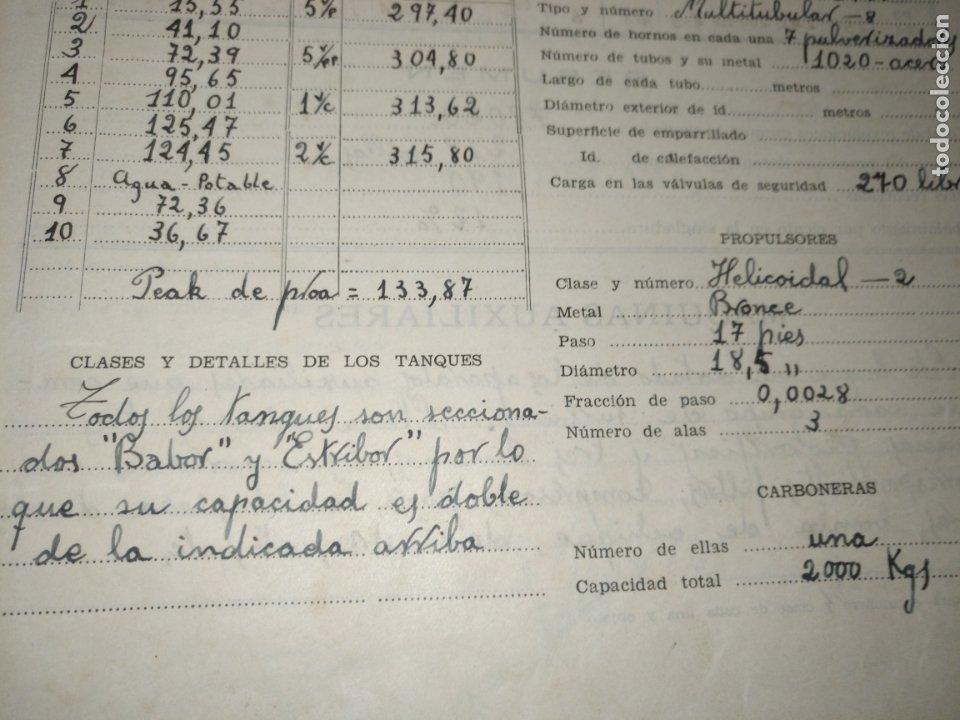 Libros de segunda mano: Cuaderno de maquinas cabo de hornos barco turbina del año 1902 . Escrito 1946 - Foto 22 - 178222837