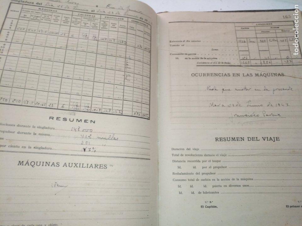 Libros de segunda mano: Cuaderno de maquinas cabo de hornos barco turbina del año 1902 . Escrito 1946 - Foto 24 - 178222837