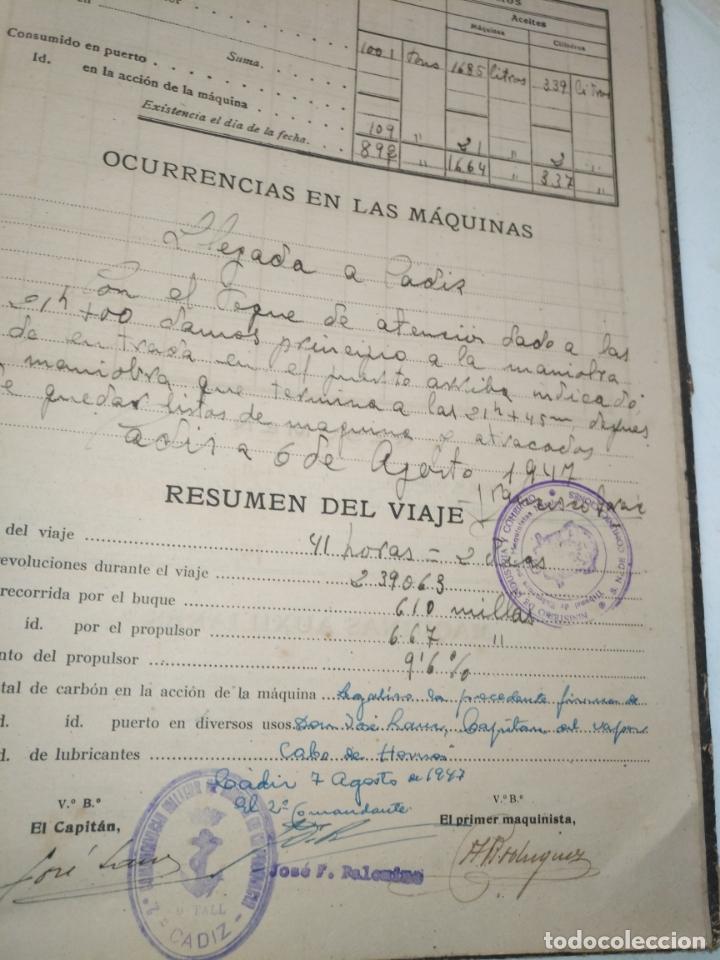 Libros de segunda mano: Cuaderno de maquinas cabo de hornos barco turbina del año 1902 . Escrito 1946 - Foto 25 - 178222837