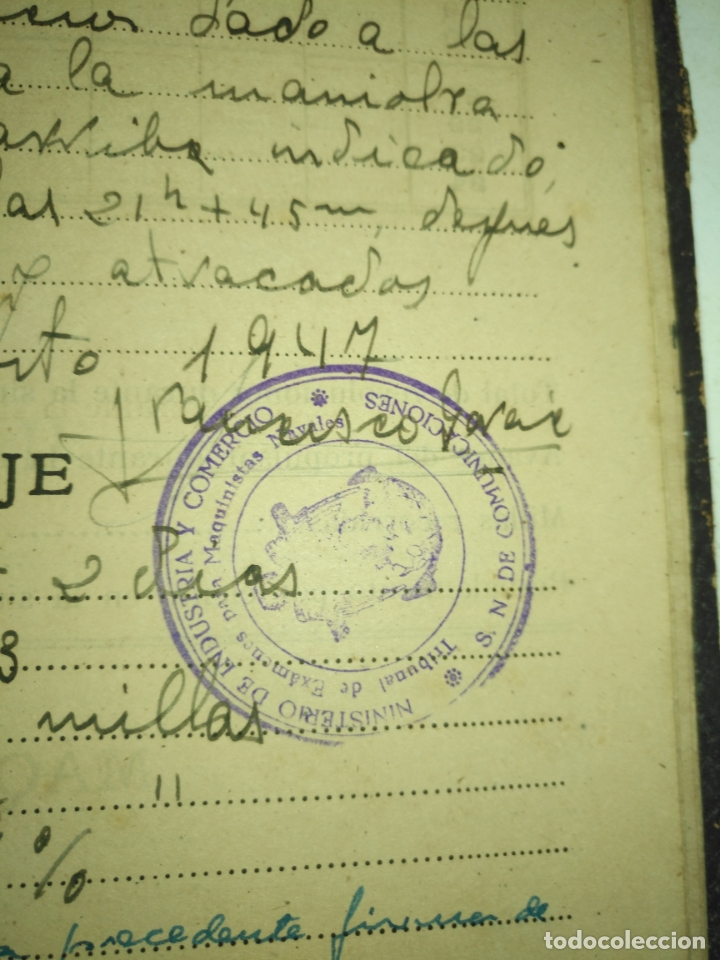Libros de segunda mano: Cuaderno de maquinas cabo de hornos barco turbina del año 1902 . Escrito 1946 - Foto 26 - 178222837