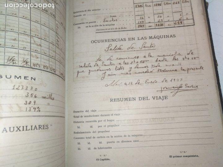 Libros de segunda mano: Cuaderno de maquinas cabo de hornos barco turbina del año 1902 . Escrito 1946 - Foto 29 - 178222837