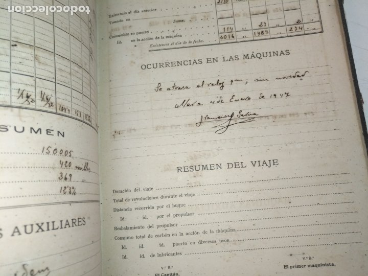 Libros de segunda mano: Cuaderno de maquinas cabo de hornos barco turbina del año 1902 . Escrito 1946 - Foto 30 - 178222837