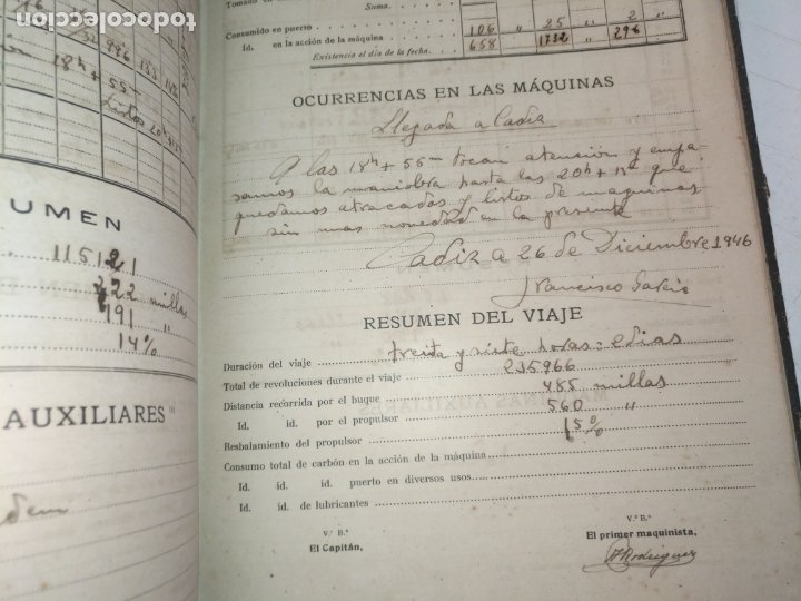 Libros de segunda mano: Cuaderno de maquinas cabo de hornos barco turbina del año 1902 . Escrito 1946 - Foto 31 - 178222837