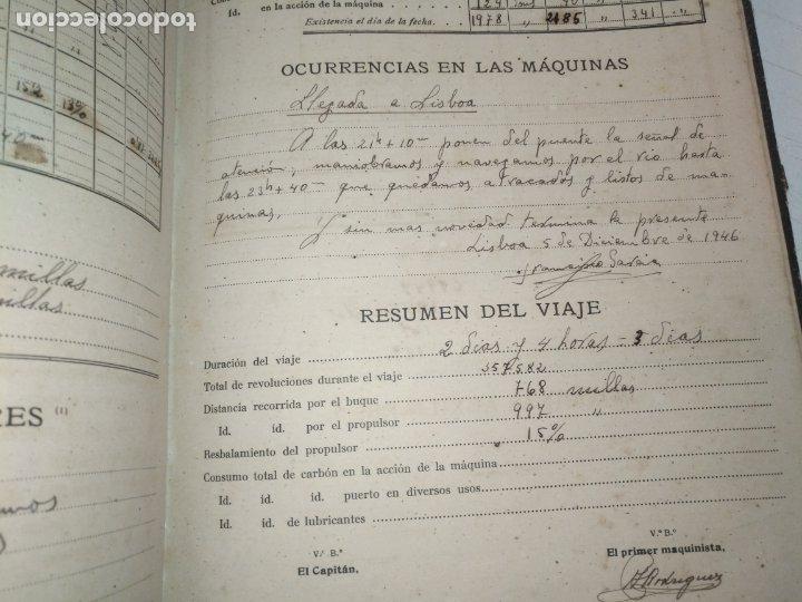 Libros de segunda mano: Cuaderno de maquinas cabo de hornos barco turbina del año 1902 . Escrito 1946 - Foto 32 - 178222837