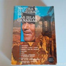 Libros de segunda mano: NATURA Y CULTURA DE LAS ISLAS CANARIAS - PEDRO HERNÁNDEZ HERNÁNDEZ - 1978. Lote 179140700