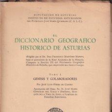 Libros de segunda mano: J. L. PÉREZ DE CASTRO EL DICCIONARIO GEOGRÁFICO HISTÓRICO DE ASTURIAS DE MARTÍNEZ MARINA, I. 1959. Lote 179150040