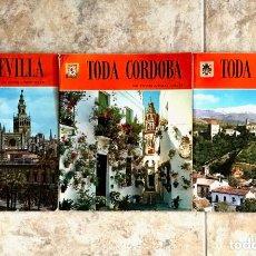 Libros de segunda mano: LOTE 3 LIBROS TODA SEVILLA, TODA CORDOBA Y TODA GRANADA - IMAGENES A TODO COLOR. Lote 179329960