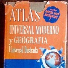 Libros de segunda mano: ATLAS UNIVERSAL MODERNO Y GEOGRAFÍA UNIVERSAL ILUSTRADA- EDITORIAL CUMBRE. Lote 180130507