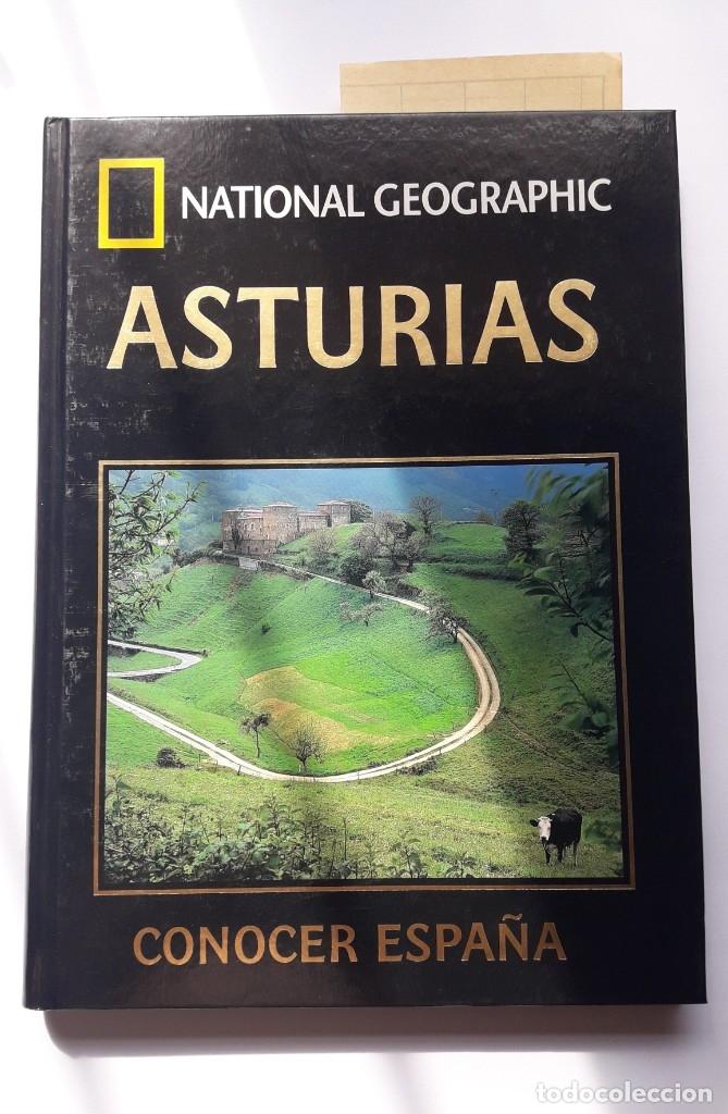 CONOCER ESPAÑA: ASTURIAS. NATIONAL GEOGRAPHIC. IMPECABLE. (Libros de Segunda Mano - Geografía y Viajes)