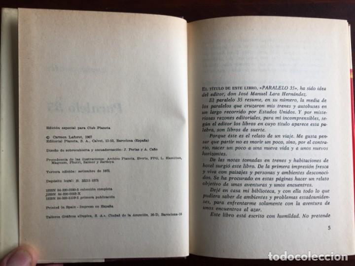Libros de segunda mano: Paralelo 35 de Carmen Laforet. Un recorrido por los estados y ciudades de EEUU que cruzan esta linea - Foto 2 - 181953650