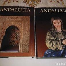 Libros de segunda mano: ANDALUCÍA. (2 TOMOS). COL. TIERRAS DE ESPAÑA. VARIOS AUTORES. NOGUER. 1980. . Lote 182639298