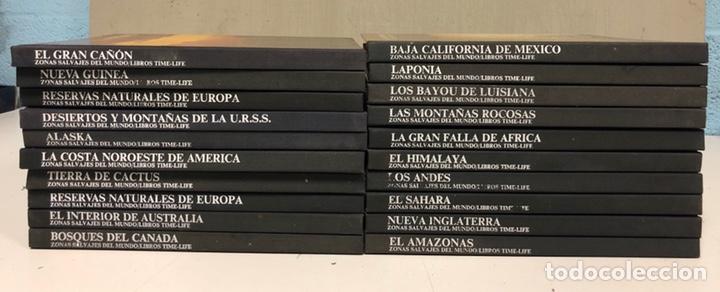 LOTE DE 20 VOLÚMENES DE LA COLECCIÓN ZONAS SALVAJES DEL MUNDO. LIBROS LIFE-TIME. (Libros de Segunda Mano - Geografía y Viajes)