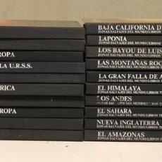 Libros de segunda mano: LOTE DE 20 VOLÚMENES DE LA COLECCIÓN ZONAS SALVAJES DEL MUNDO. LIBROS LIFE-TIME.. Lote 210552880