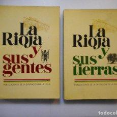 Libros de segunda mano: LA RIOJA Y SUS TIERRAS Y SUS GENTES ( 2 TOMOS) Y97085. Lote 183673695