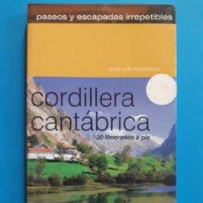 Libros de segunda mano: CORDILLERA CANTABRICA. 30 ITINERARIOS A PIE. JOSE LUIS RODRIGUEZ. COMPLETAMENTE NUEVO. Lote 183897700
