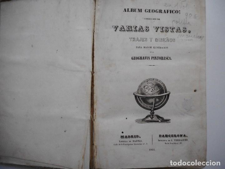 Libros de segunda mano: Album geográfico;Varias vistas, trajes y diseños para mayor ilustración de la geografía ....Y97409 - Foto 2 - 185973203