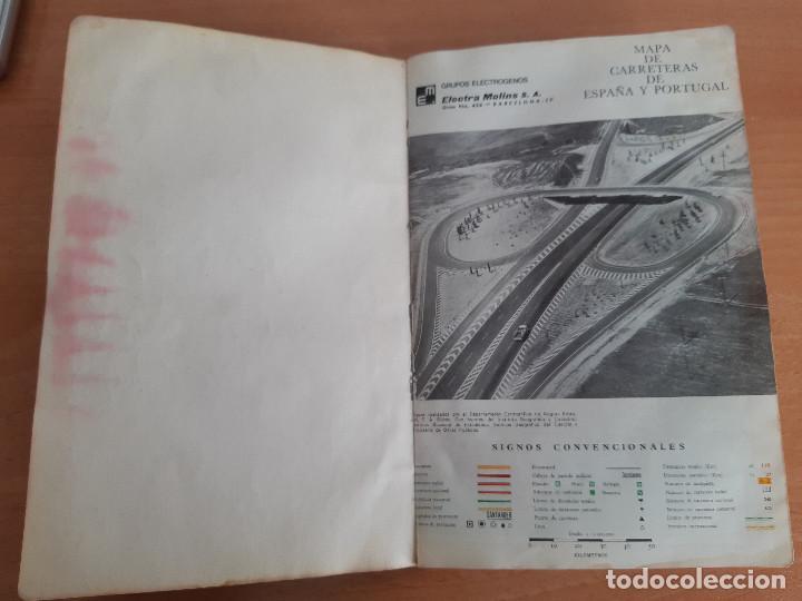 MAPA DE CARRETERAS ESPAÑA Y PORTUGAL. ELECTRA MOLINS. AÑOS 50-60? (Libros de Segunda Mano - Geografía y Viajes)