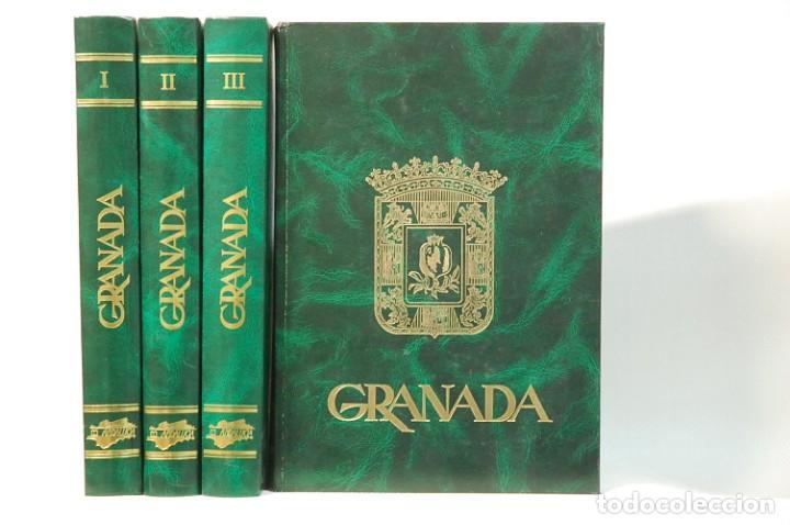LMV - GRANADA 4 TOMOS. COLECCION COMPLETA. EDITORIAL ANDALUCIA. EDICIONES ANEL. 1982 (Libros de Segunda Mano - Geografía y Viajes)