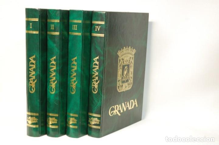 Libros de segunda mano: LMV - GRANADA 4 TOMOS. COLECCION COMPLETA. EDITORIAL ANDALUCIA. EDICIONES ANEL. 1982 - Foto 2 - 186342055