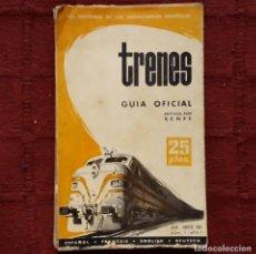 Libros de segunda mano: TRENES - GUÍA OFICIAL RENFE JULIO-AGOSTO 1963. Lote 188759105
