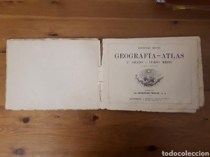 Libros de segunda mano: Geografía Atlas 2° grado o curso medio. Bruño. - Foto 2 - 190925547