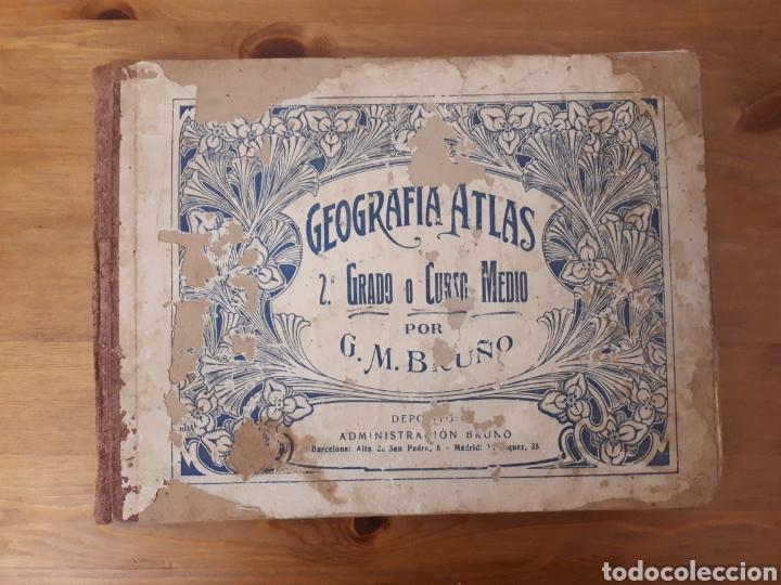 GEOGRAFÍA ATLAS 2° GRADO O CURSO MEDIO. BRUÑO. (Libros de Segunda Mano - Geografía y Viajes)