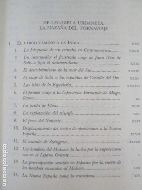 Libros de segunda mano: LEGAZPI. EL TORNAVIAJE. NAVEGANTES OLVIDADOS POR EL PACIFICO NORTE. FUNDACION JOSE ANTONIO DE CASTRO - Foto 9 - 192216915