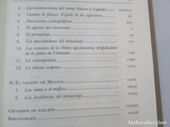 Libros de segunda mano: LEGAZPI. EL TORNAVIAJE. NAVEGANTES OLVIDADOS POR EL PACIFICO NORTE. FUNDACION JOSE ANTONIO DE CASTRO - Foto 12 - 192216915