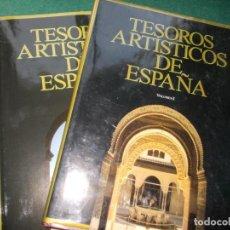 Libros de segunda mano: TESOROS ARTISTICOS DE ESPAÑA 2 GRANDES VOLUMENES. Lote 192414676