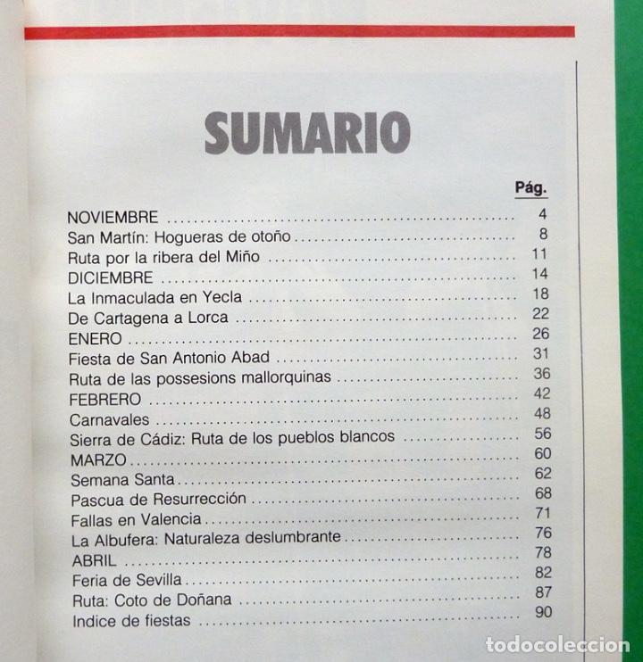 Libros de segunda mano: ESPAÑA PUEBLO A PUEBLO nº 3: FIESTAS, RUTAS, TURISMO Y GASTRONOMÍA - TIEMPO - 1990 - INDICE - NUEVO - Foto 3 - 194226416