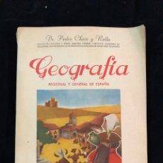 Libros de segunda mano: GEOGRAFÍA REGIONAL Y GENERAL DE A ESPAÑA. Lote 194332832