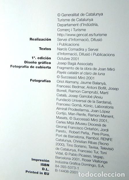 Libros de segunda mano: Cataluña. Libro publicado por Turisme de Catalunya, 2001 - Foto 2 - 194511793
