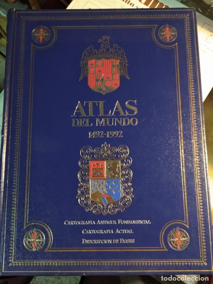 ATLAS DEL MUNDO 1492-1992. CARTOGRAFIA, MAPAS, FOTOS DEL MUNDO. (Libros de Segunda Mano - Geografía y Viajes)