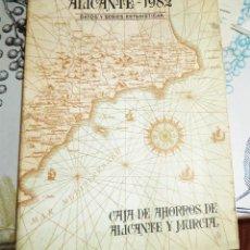 Libros de segunda mano: ALICANTE 1982 DATOS Y SERIES ESTADÍSTICAS ED. CAJA DE AHORROS DE ALICANTE Y MURCIA PASTA SEMIRIGIDA . Lote 194537235