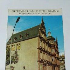 Libros de segunda mano: GUTENBERG MUSEUM MAINZ. Lote 194542026