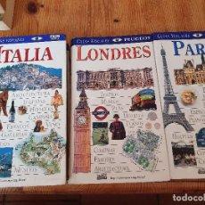 Libros de segunda mano: GUÍAS DE VIAJE LONDRES, PARÍS, ITALIA. Lote 194681065