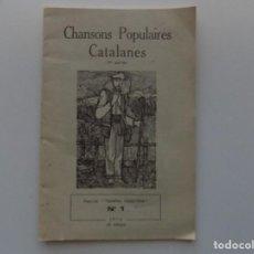 Libros de segunda mano: LIBRERIA GHOTICA. CHANSONS POPULAIRES CATALANES.TERRA NOSTRA NÚM. 1. 1972. ILUSTRADO.. Lote 194888871